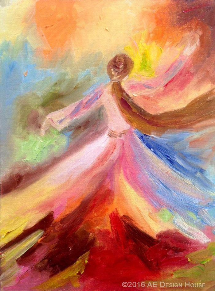 Original Painting Whirling Dervish Sufi Dance Rumi by AEDesignHouse on Etsy