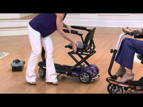 EV Rider Folding Mobility Scooter with Arm Rests with Albany Irvin - YouTube