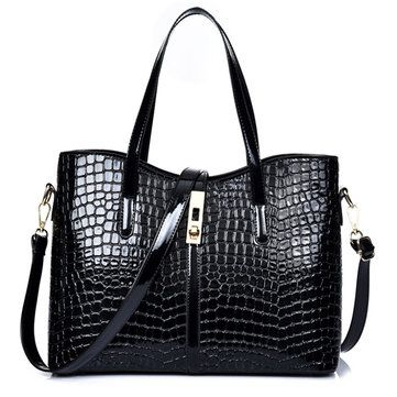 3 Pcs Women Stone Pattern Handbags Elgant Shoulder Bags Cluthes Bags Crossbody B - US$43.99