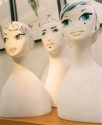 Designer & Artist Mannequins for Ralph Pucci International by Anna Sui. #art #mannquins