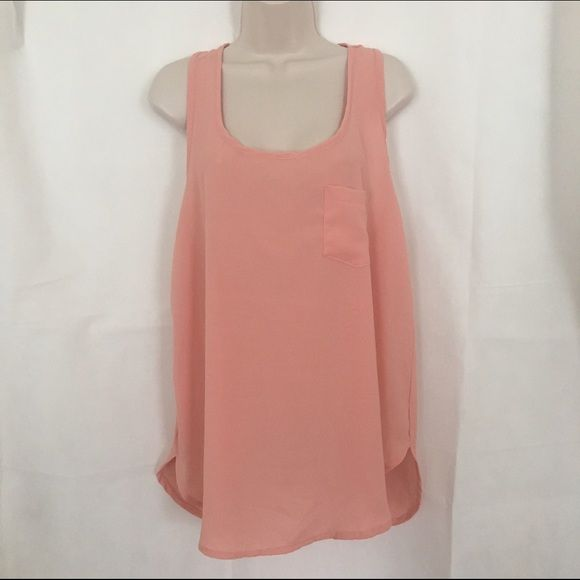 Beautiful Deb Shop peach tank! Very pretty peach colored flowy tank from Deb Shops.  Size XL Deb Shops Tops Tank Tops