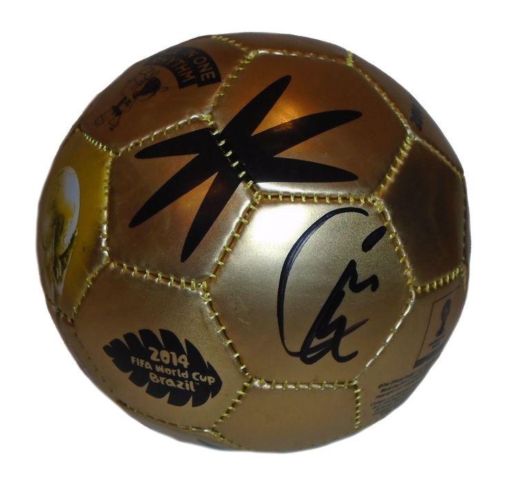 Kyle Beckerman Autographed 2014 FIFA World Cup Gold Mini Soccer Ball, PSA/DNA