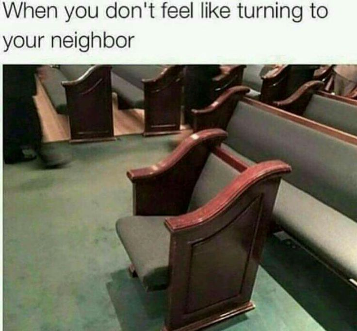 Christian humor, turn to your neighbor