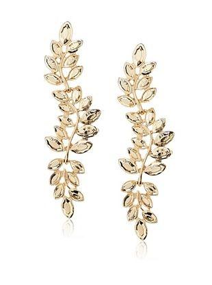 60% OFF Kenneth Jay Lane Gold Leaf Drop Earrings