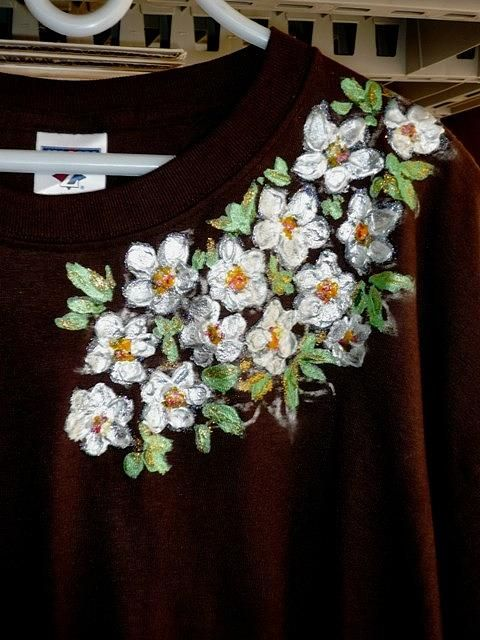 Hand Painted T- Shirt Tapestry - Textile