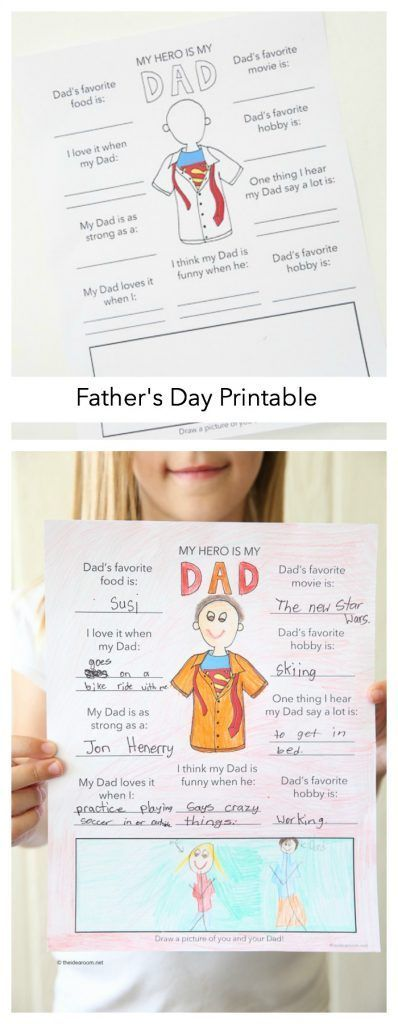 Father's Day Ideas| Free Father's Day Printable Fun Fact Sheet