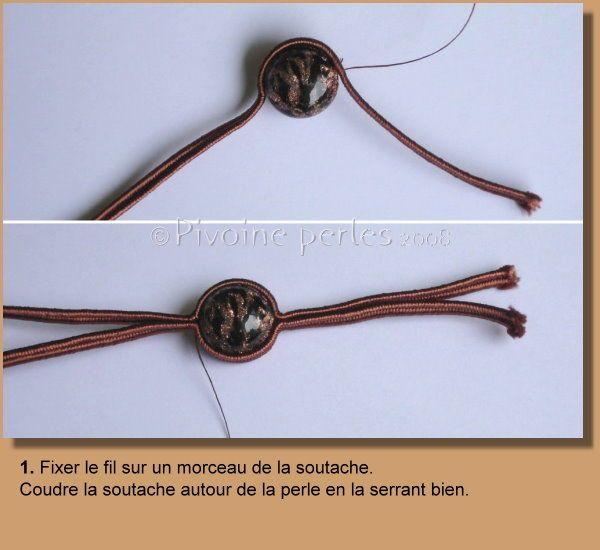 Comment faire un bracelet avec des perles et de la soutache? Comme promis, voici les étapes de la réalisation du bracelet Sommerso...
