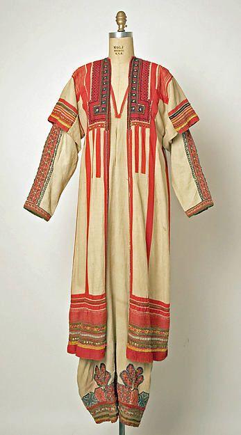 Ensemble. Date: 19th century Culture: Russian Medium: (a) linen (b, d) cotton (c, f, g, h, i) wool