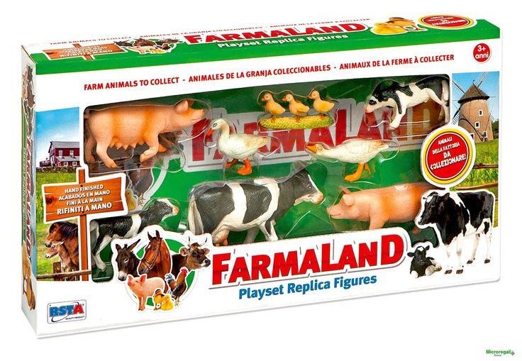 Playset ANIMALI DELLA FATTORIA CON CUCCIOLI per bambini di 3 anniGli animali della fattoria con i cuccioli per tanti giochi divertenti. Ci sono la mucca, i vitellini, i maiali, le oche con le ochette. Gli animali in totale sono 8.Dimensioni Scatola cm 39 x 21 x 6Adatto per bambini di eta' superiore a 3 anniMarchio CE