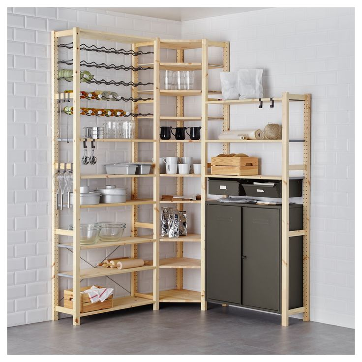 ivar 3 section shelving unit w cabinets ikea in 2019 ikea pantry ikea pantry shelving