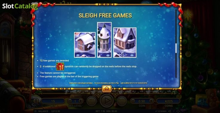 Paytable 5. Santa's Village (Video Slot from Habanero)