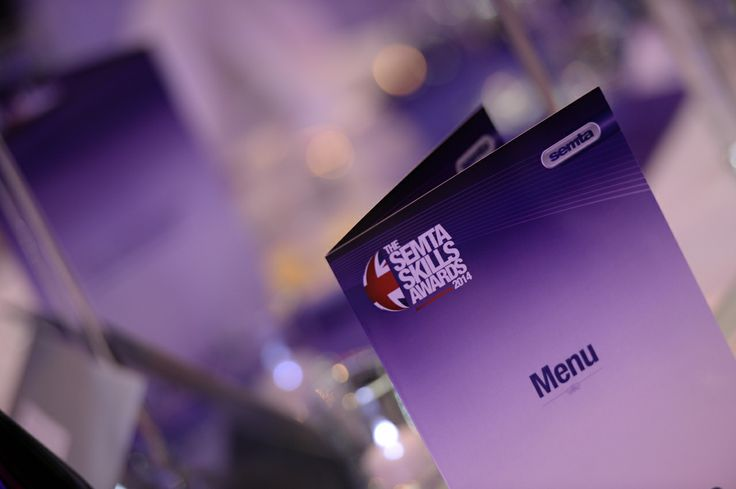 Our Awards branding looking fantastic on the tables