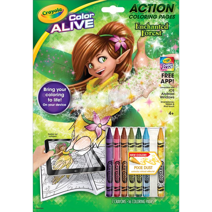 crayola color alive action coloring pages enchanted forest by crayola