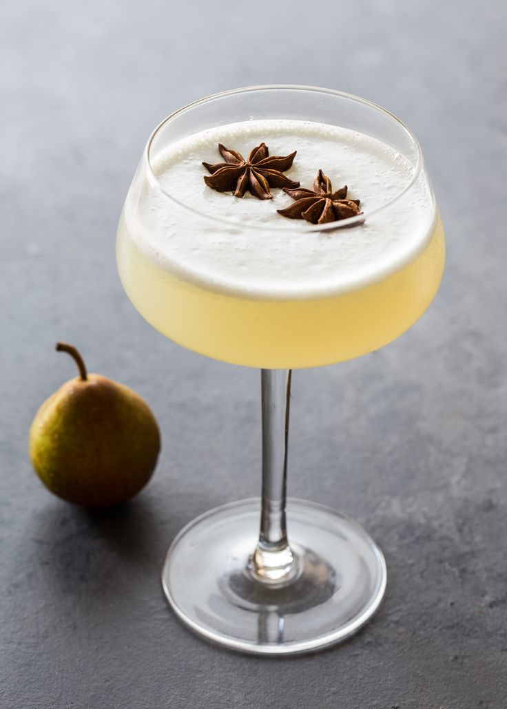 Spiced Pear Gin Fizz recipe on TrendyBartender.com now!