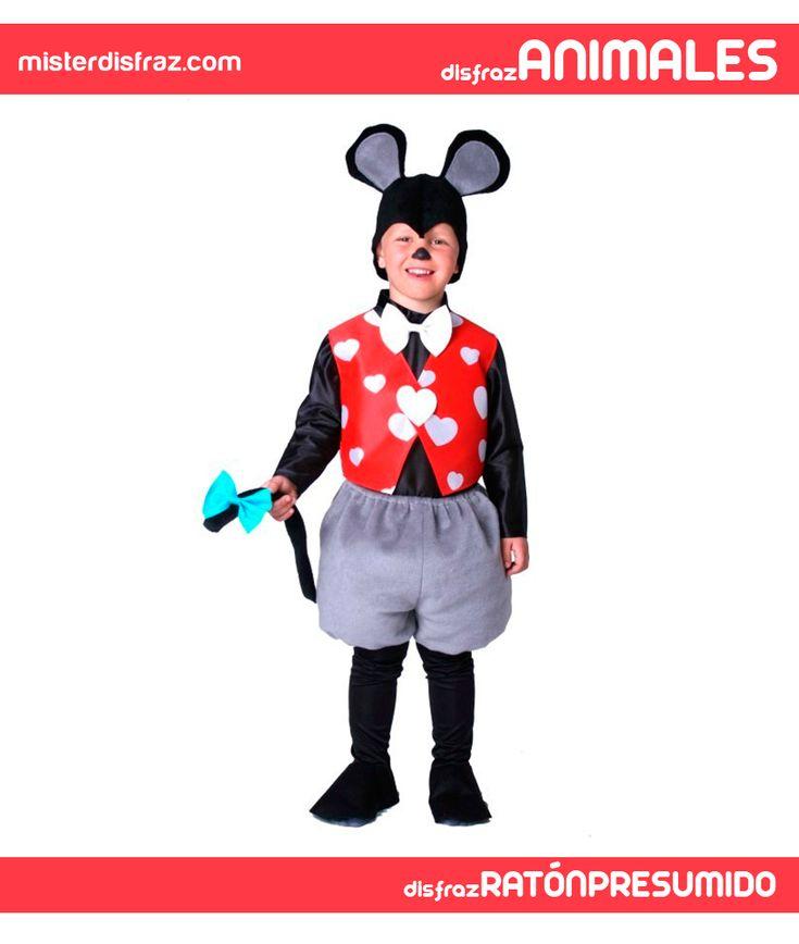 Disfraz de Ratón Presumido para niño. Seguro que todos los niños quieren convertirse en el roedor más famoso que existe que es Mickey Mouse y con este disfraz lo pueden conseguir.  #disfrazdeanimal #disfrazesdeanimales #disfraz #animal #ratonpresumido #raton #presumido