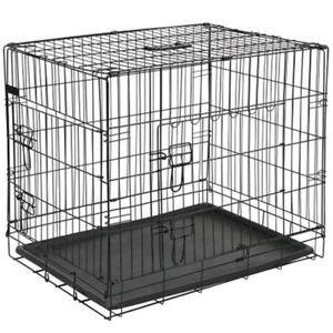 a pet jaula de perros metal dimesniones 775x485x555 cm color negra 15002