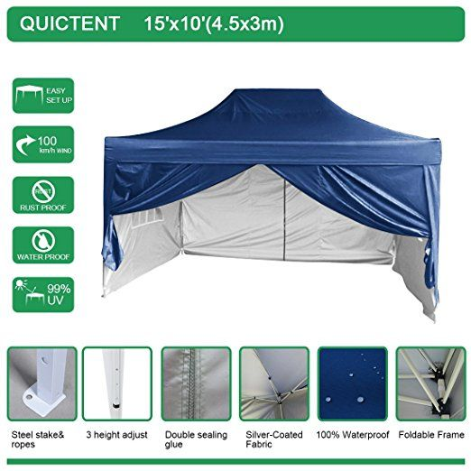 Amazon.com  Quictent Silvox Waterproof 10u0027x15u0027 EZ Pop Up Canopy Gazebo  sc 1 st  Pinterest & 167 best Party Tent For Party images on Pinterest | Baking center ...