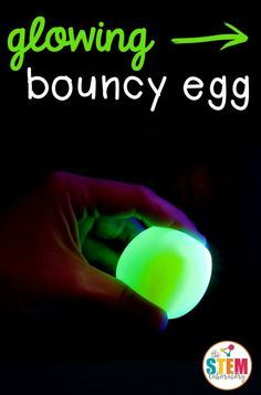 Awesome science for kids! Turn an ordinary egg into a glowing, bouncy egg. I can't believe how easy it is! This would be a great science fair project.
