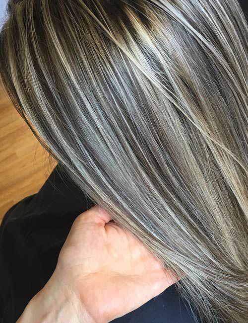 Partial Highlights Vs Full Highlights Hair Color Pinterest