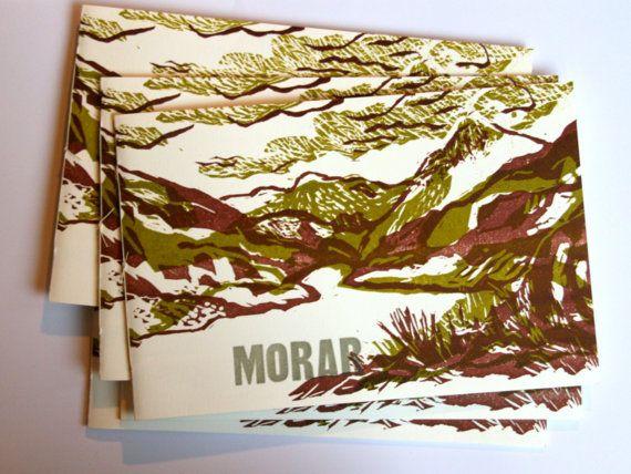 for sale Scotland 'Morar' hand printed book door deSlootjesschilder en Rosemarijn van Limburg Stirum #drukkerijde1000poot