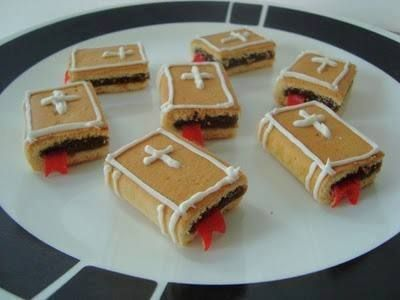Bible fig newtons with decorator icing and fruit rollups cut to look like bookmark.