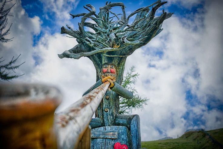 the wooden alphorn blower