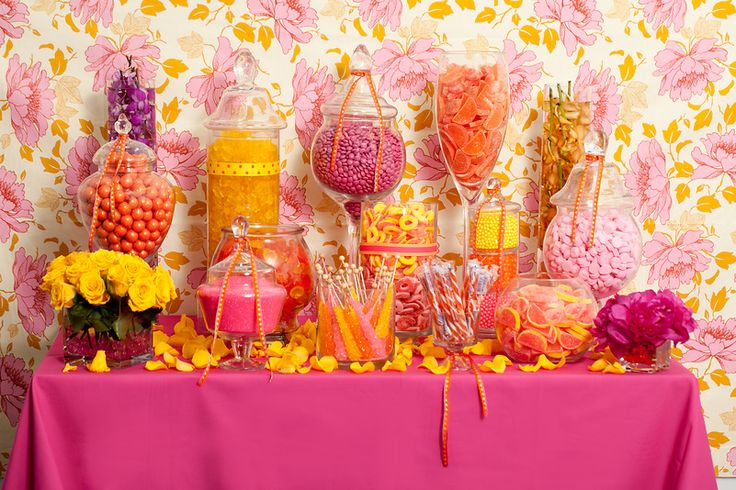 Dont cram your expensive candy buffet on a small dinky table. A buffet for 60 or more people, which this looks to be must be on a 6' table, likewise a candy buffet for 150 (65 lbs of candy) needs to be on a minimum 8' table, etc.