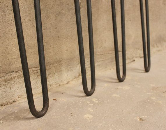 Hairpin Table Legs 28 Set of 4 Legs 1/2 Smooth by nakedMETALstudio