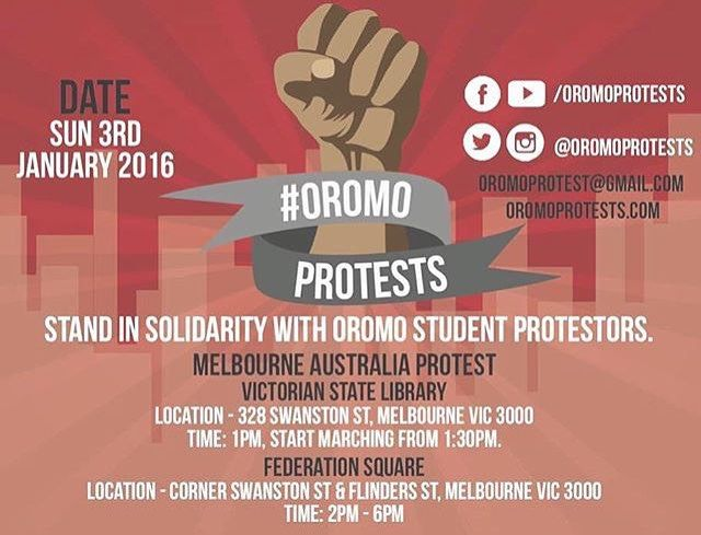 #oromoprotests SEE YOU THERE
