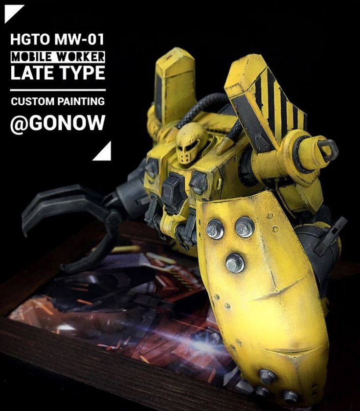HGTO 1/144 MW-01 MOBILE WORKER LATE TYPE CUSTOMPAINTING 끝!!...