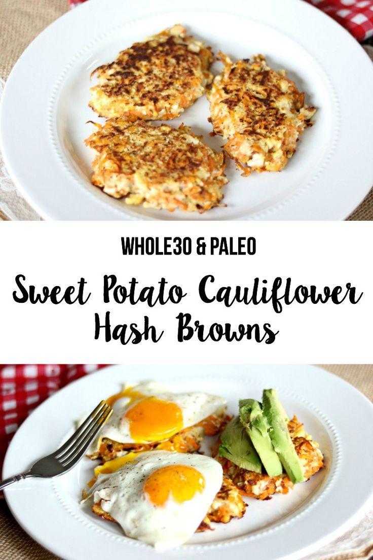 Sweet Potato Cauliflower Hash Browns Recipe: Whole30 & Paleo