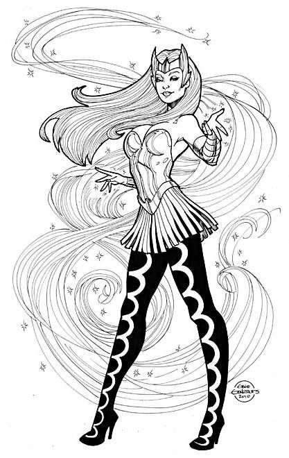 enchantress marvel coloring pages - photo#2