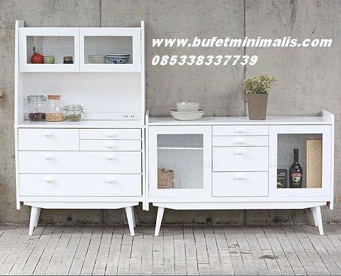 Bufet Dapur dan juga Lemari Dapur Cabinet dengan Model Minimalis Terbaru Cat Duco Putih Kami Jual dengan Harga Murah Produck Terbaru Modern Klasik
