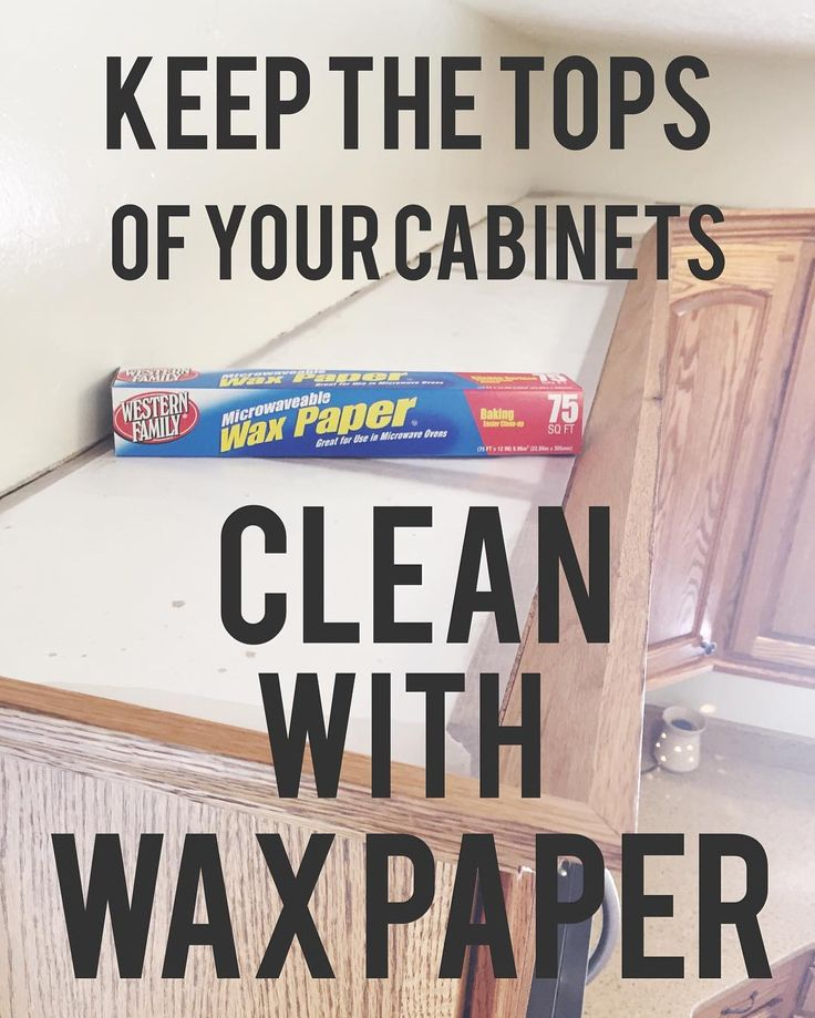 #cleaninghacks number 3: tackling my kitchen today. Deep cleaning everything and getting rid of gunk. I hate scrubbing the tops of the cabinets where all the dust and grease settle. So one way I cheat is putting wax paper on top of the cabinets. The dust and grime sit on that and then all I do is a quick wipe down (no time consuming scrubbing) and change out the wax paper. #yourewelcome #cleaningtips #springcleaning #lifehacks by janicetwitchellfit