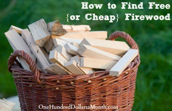 How to Find Free {or Cheap} Firewood on $100 A Month at http://www.onehundreddollarsamonth.com/how-to-find-free-or-cheap-firewood/