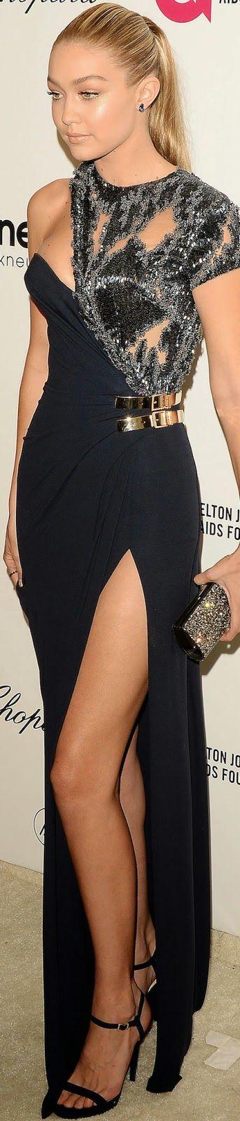 Gigi Hadid 2015 Elton John Oscar Party / Gigi Hadid in Versace