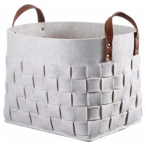 "Threshold™ Decorative Basket Felt Snowball - White $24 Dimensions: 12.5"" H x 13"" W x 17.3"" D."