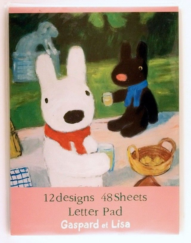 janetstore.com: kawaii stationery,letter sets, stickers, gifts and more - Gaspard et Lisa letter pad 4905426912929