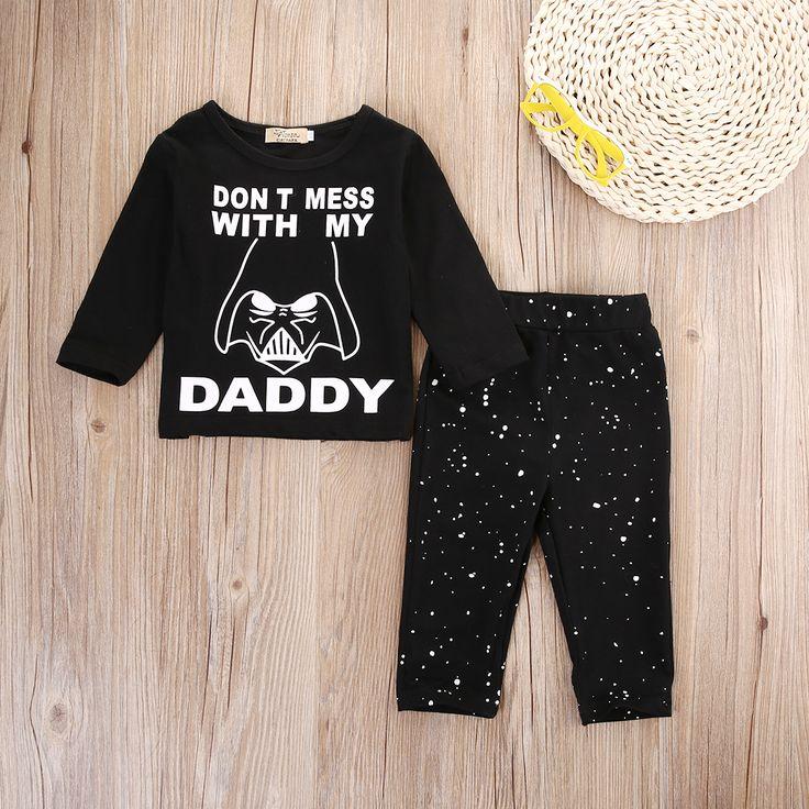 Cotton Baby Boy Black T-shirt and Pants Set