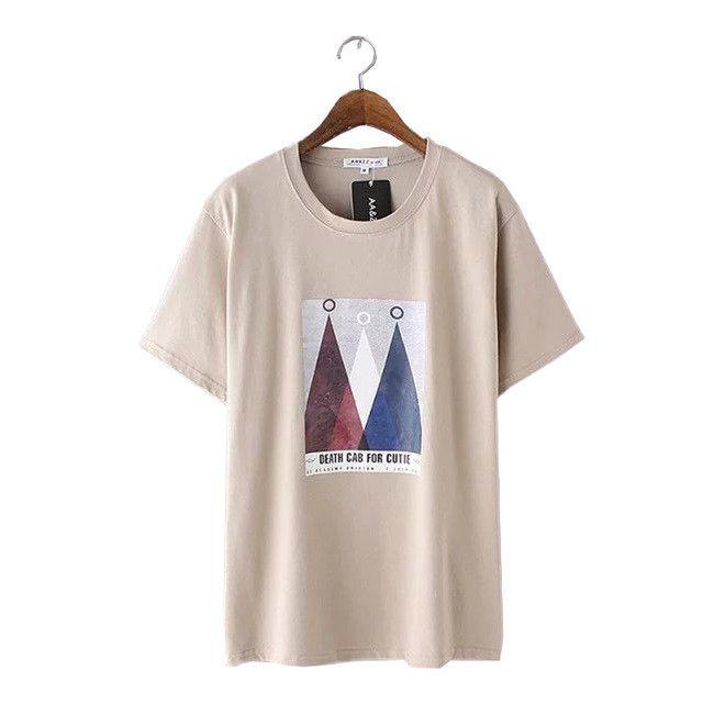 Women korean style print short sleeve T shirt o neck summer casual tees ladies streetwear brand loose tops Camiseta