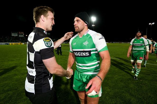 Callum Gibbins Photos Photos - Captain Brendon O'Connor of Hawke's Bay and captain Callum Gibbins of Manawatu shake hands after the ITM Cup Championship Final match between Manawatu and Hawke's Bay at FMG Stadium on October 24, 2014 in Palmerston North, New Zealand. - Manawatu v Hawke's Bay