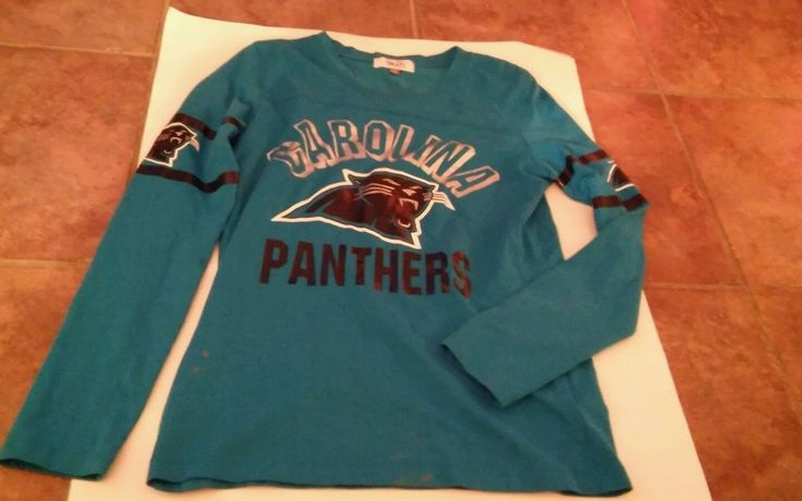 Women's Carolina Panthers Long Sleeve Shirt Size Small by Allysa Milano #AlyssaMilano #Casual #Casual