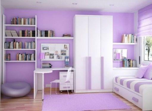 purple white bedroom for teen girls