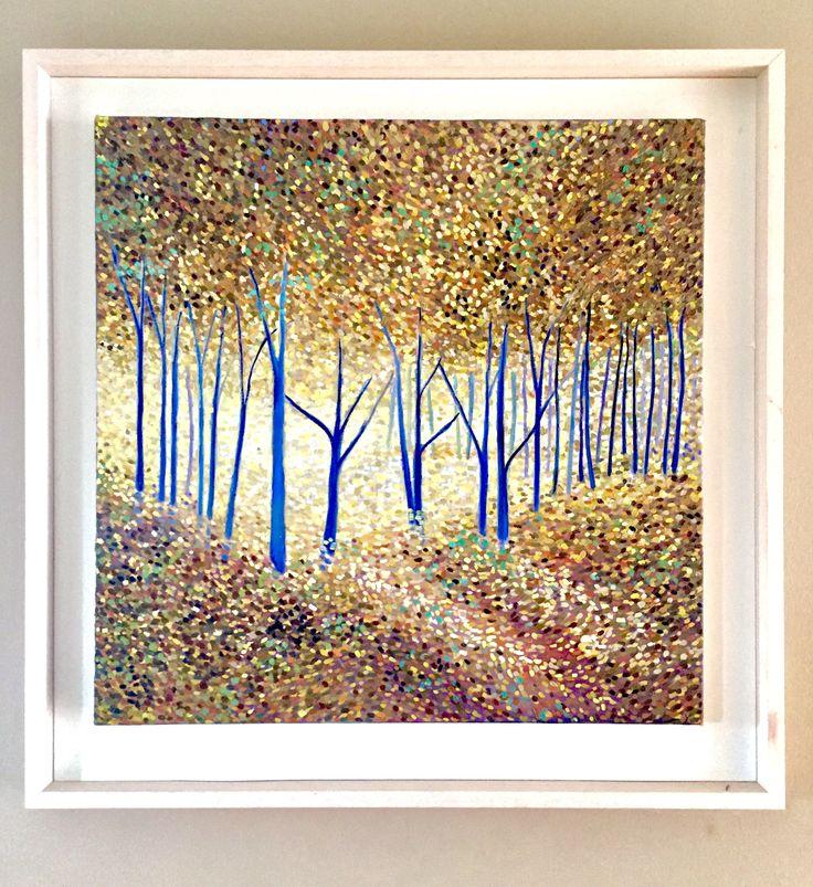 Golden Forest Emerboweart.  Buy it now on my etsy > https://www.etsy.com/ie/people/emerbowe?ref=hdr_user_menu #Painting #oiloncanvas #Art #oilpainting #oil #canvas #paint #irish #irishartist #EmerBowe #Wildlife #Gaps #trees #Tree #Forest #Enchanting #Wildlife #Gold