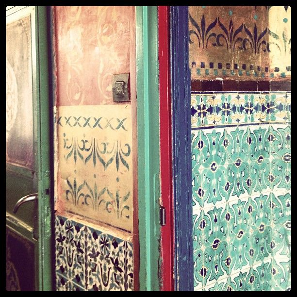Stencils, tiles & patterns at the Salone de The at the mosque #thestylistsguidetoparis #gypsycaravan #christmas - @Sibella Court