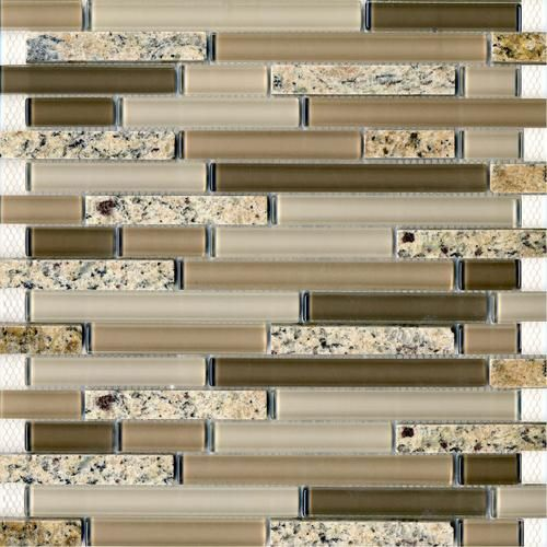 Epoch tile desert gold random glass mosaic wall tile at for Menards backsplash