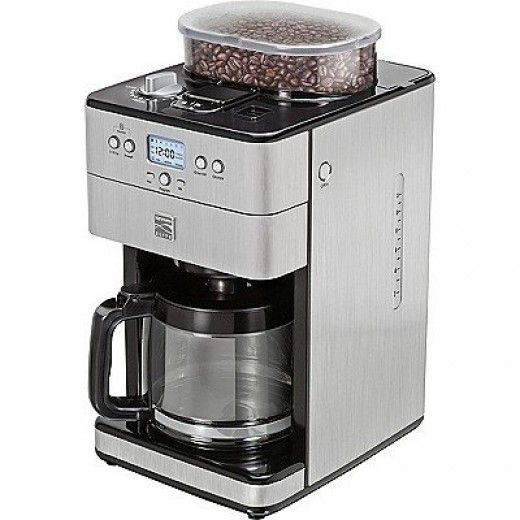 The Kenmore Elite is a stainless steel brewer with a built in conical burr grinder that offers excellent value for money.  A superior, quiet operator, it is capable of brewing anything from a single shot of espresso up to 14 cups of coffee at a time.