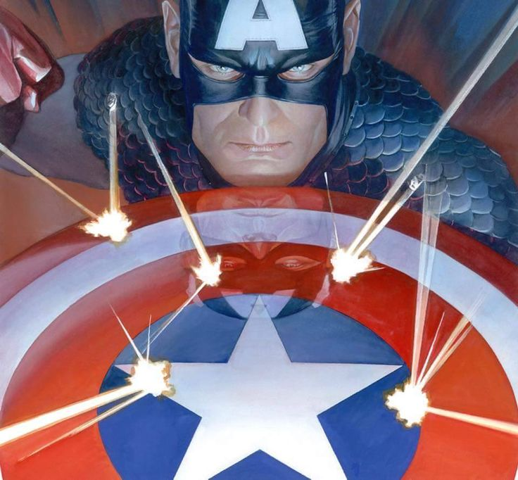 Captain America by Alex Ross #AlexRoss #CaptainAmerica #SteveRogers #Avengers #Illuminati #SHIELD #AllWinnersSquad #TheInvaders