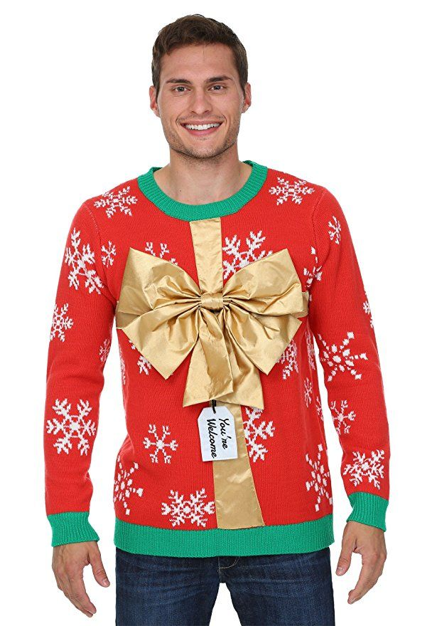 Fun Costumes mens Christmas Present Sweater Medium