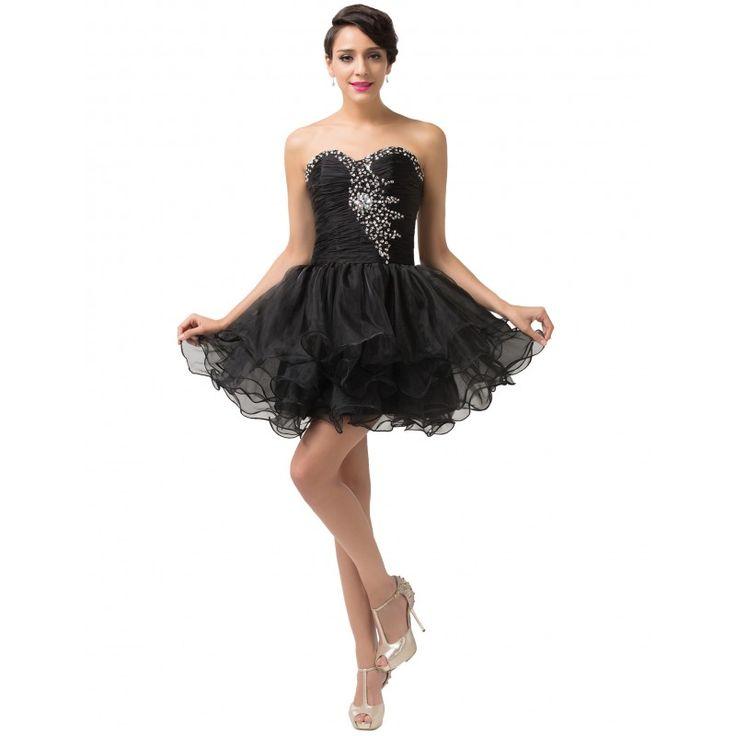 Čierne spoločenské šaty CL6077-2